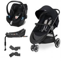 Travel System Agis M-Air3 Stardust Black + Aton 5 + Base - Cybex