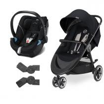 Travel System Agis M-Air3 Stardust Black + Aton 5 Gold Black - Cybex