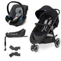 Travel System Agis M-Air3 Stardust Black + Aton + Base - Cybex
