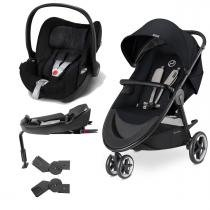 Travel System Agis M-Air3 Stardust Black +Cloud Q Plus+ Base - Cybex