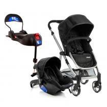 Travel System - Epic Light - Onyx e Base para Bebê Conforto Terni com IsoFix - Infanti -