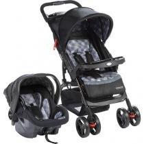 Travel System Moove (carrinho + bebe conforto) Cinza Trama  - Cosco -