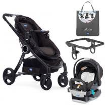 Travel System - Urban Plus Keyfit Night com Color Pack Anthracite e Adaptador para Carrinho - Chicco - Chicco
