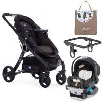 Travel System - Urban Plus Keyfit Night com Color Pack Beige e Adaptador para Carrinho - Chicco - Chicco