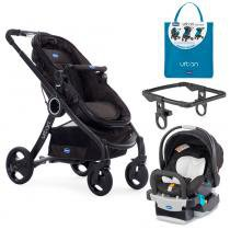 Travel System - Urban Plus Keyfit Night com Color Pack Power Blue e Adaptador para Carrinho - Chicco - Chicco