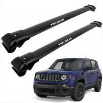 Travessa de Teto Jeep Renegade de Alumínio Larga Preta -  Projecar - Projecar