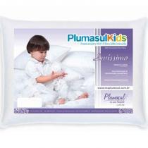Travesseiro 100 Fibras Siliconizada Levíssimo Baby - Percal 180 Fios - Plumasul -