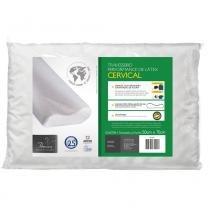 Travesseiro Cervical Para Fronhas 50x70 cm - Branco - Fibrasca