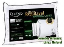 Travesseiro de Altura Regulável Latex Luxo - Duoflex - 50 x70 cm -