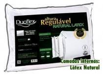 Travesseiro de Altura Regulável Latex Luxo - Duoflex - 50 x70 cm - Duoflex