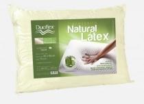 Travesseiro de Látex Natural Capa 100 algodão 45x65 cm - Duoflex -