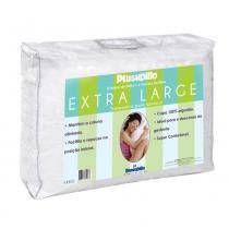 Travesseiro Dunlopillo Longo Plushpillo Extra Large em Fibra e Látex Flocado 50 X 150 cm - COPESPUMA