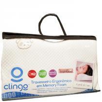 Travesseiro Ergonômico em Memory Foam - Clingo - Clingo