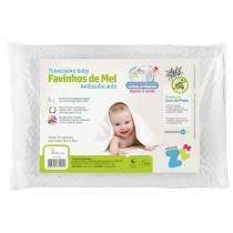 Travesseiro Favinhos Baby Antissufocante Lavável 30x40 cm - Branco - Fibrasca