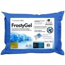 Travesseiro Fibrasca Frostygel Plumax Capa Euro 50cm x 70cm -