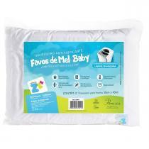 Travesseiro Fibrasca Infantil Anti Sufocante - Favinhos de Mel Baby - Fibrasca