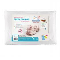 Travesseiro Fibrasca Infantil Anti Sufocante - Látex Lavável Baby - Fibrasca