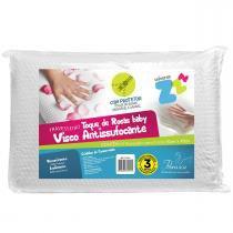 Travesseiro Fibrasca Infantil Anti Sufocante - Visco Toque de Rosas - Fibrasca