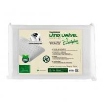 Travesseiro Látex Fibrasca Antiácaro Lavável Sintético Eucaliptus -