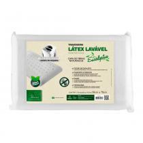 Travesseiro Látex Fibrasca Antiácaro Lavável Sintético Eucaliptus - Fibrasca