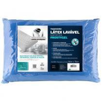 Travesseiro Látex Lavável Sintético Frostygel Para Fronhas 50x70 cm - Branco - Fibrasca