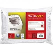 Travesseiro Malha Gold 50x70cm - Integralmente Lavável - Fibrasca -