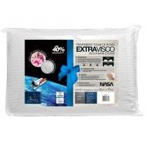 Travesseiro Nasa Extravisco Toque de Rosas para Fronha 50x70 cm - Fibrasca - Branco - Fibrasca