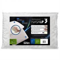 Travesseiro Nasa UP3 Visco Elástico Fibrasca 50x70cm - Fibrasca