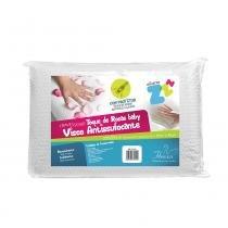 Travesseiro P/ Bebê - Toque de Rosas Baby - Antissufocante - 30cm x 40cm - Fibrasca - Fibrasca