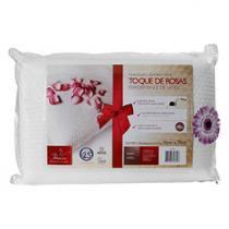 Travesseiro Performance de Látex Toque de Rosas - Fibrasca 4825