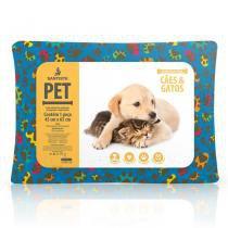 Travesseiro Pet Cães e Gatos 45 x 65cm - Santista -