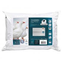 Travesseiro Plumax Percal Integralmente Lavável Para Fronhas 50x70 cm - Branco - Fibrasca