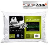 Travesseiro Saúde  Conforto C/ Íons de Prata Fibrasca 50 x 70cm -