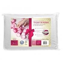 Travesseiro Toque de Rosas Dois Amores Para Fronhas 50x70 cm - Branco - Fibrasca