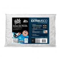 Travesseiro Viscoelástico Íons de Prata Antiácaro Extravisco Fibrasca -