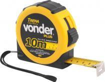 Trena aço 10mx25mm curta emborrachada - Vonder Plus -