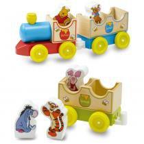 Trenzinho de Madeira com Personagens de Madeira - Disney - Pooh - New Toys - New Toys