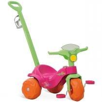 Triciclo de Passeio Motoban Rosa com Haste 833 - Bandeirante - Bandeirante
