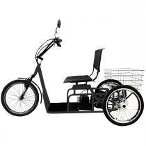 Triciclo Elétrico 800W Aro 20 Freio a Disco Confort Preto - Duos