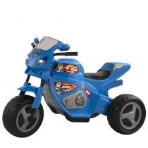 Triciclo Elétrico Infantil 6v Moto Max Turbo 1330L Magic Toys Azul -
