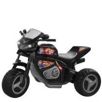 Triciclo eletrico infantil 6v moto max turbo magic toys 1430l preto -