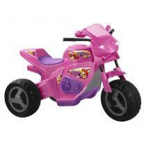 Triciclo Elétrico Infantil 6v Moto Meg Turbo 1230L Magic Toys Rosa -