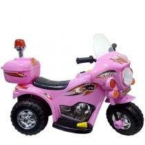 Triciclo Elétrico Infantil Moto Rosa 6V LZ Motor - Barzi Motors