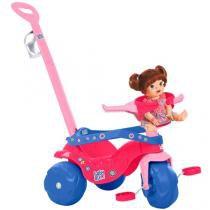 Triciclo Infantil Bandeirante com Empurador  - Baby Alive Haste Removível Porta Objetos