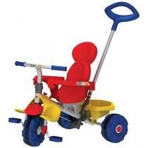 Triciclo Infantil Bandeirante com Empurador - Smart Trike Haste Removível