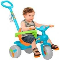 Triciclo Infantil Bandeirante com Empurador - Veloban Haste Removível Porta Objetos