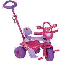 Triciclo Infantil Bandeirante com Empurrador - Motoban 3 em 1 Haste Removível