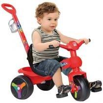 Triciclo Infantil Bandeirante - Velopan Plus Passeio Haste Removível Porta Objetos