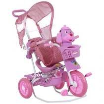 Triciclo Infantil Bel Brink com Empurrador - Gangorra Cabeça de Cachorro