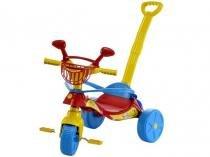Triciclo Infantil Biemme com Empurador - Smile Confort Haste Removível